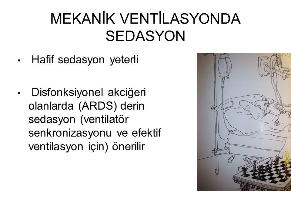 MEKANİK VENTİLASYONDA SEDASYON