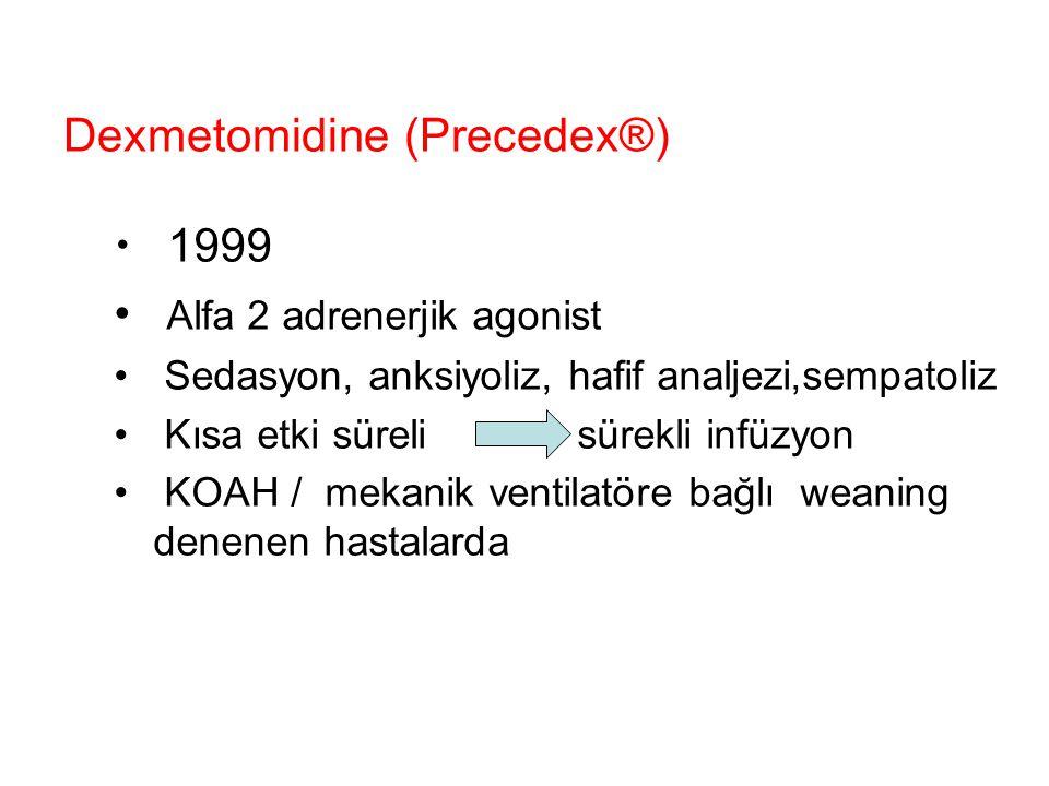 Dexmetomidine (Precedex®)