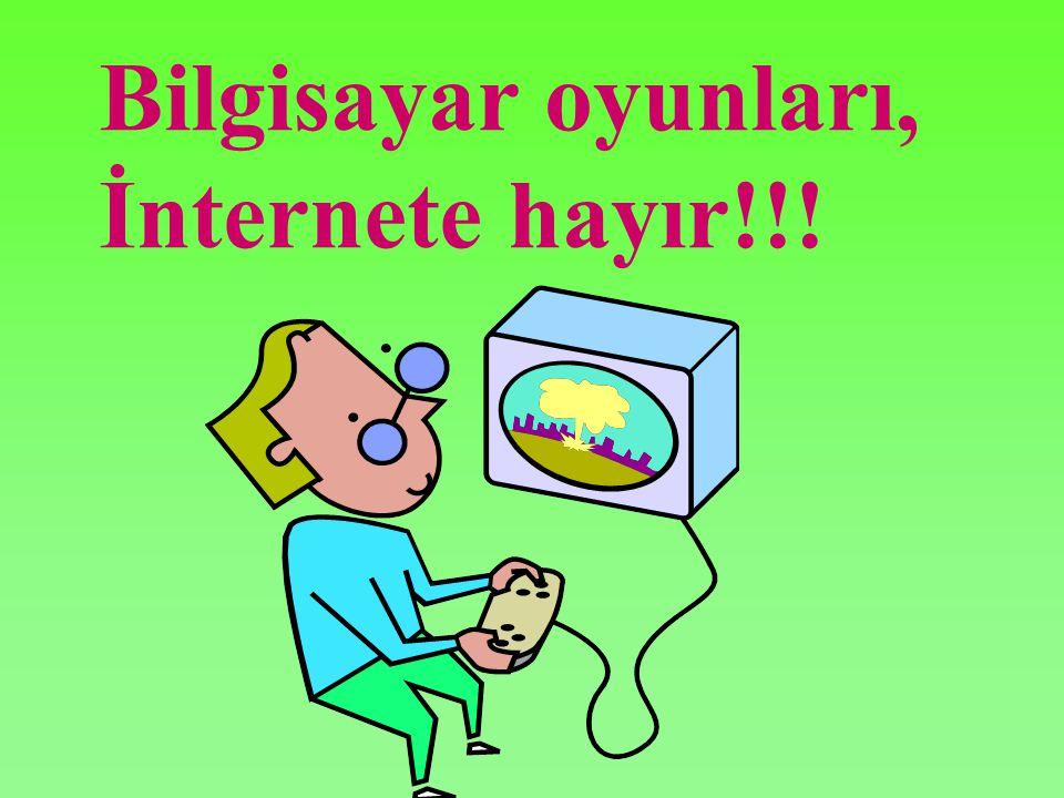 Bilgisayar oyunları, İnternete hayır!!!