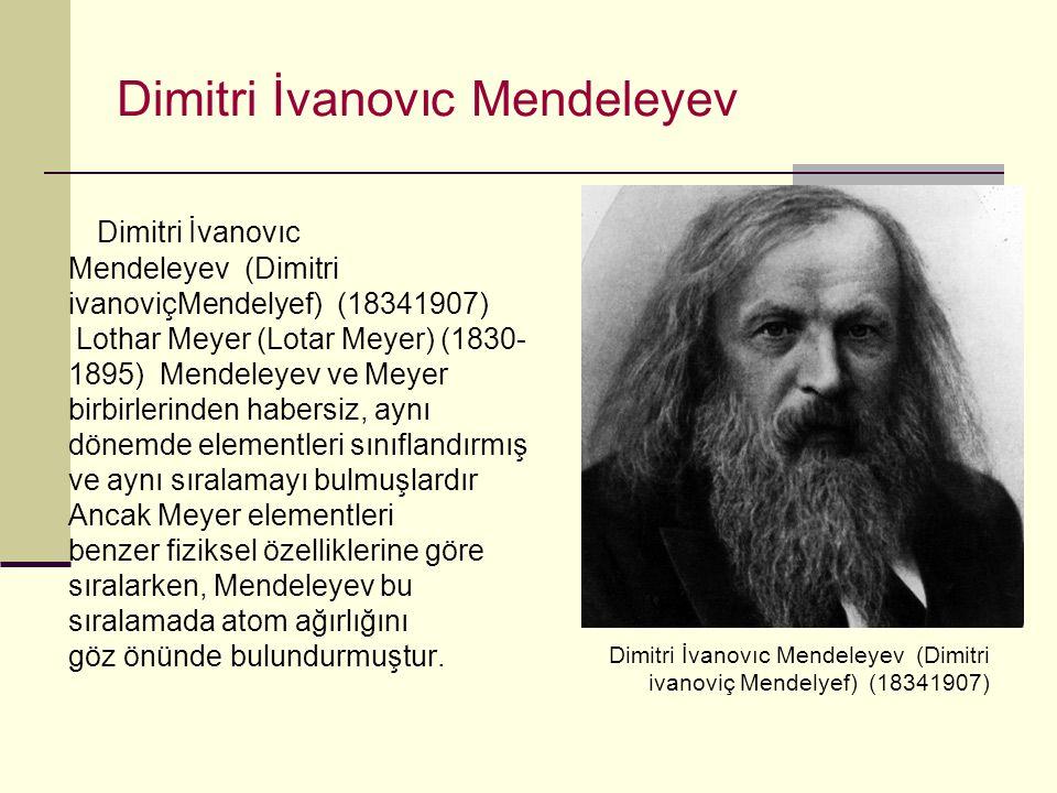 Dimitri İvanovıc Mendeleyev