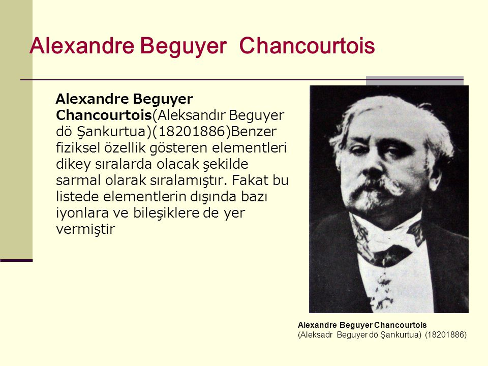 Alexandre Beguyer Chancourtois