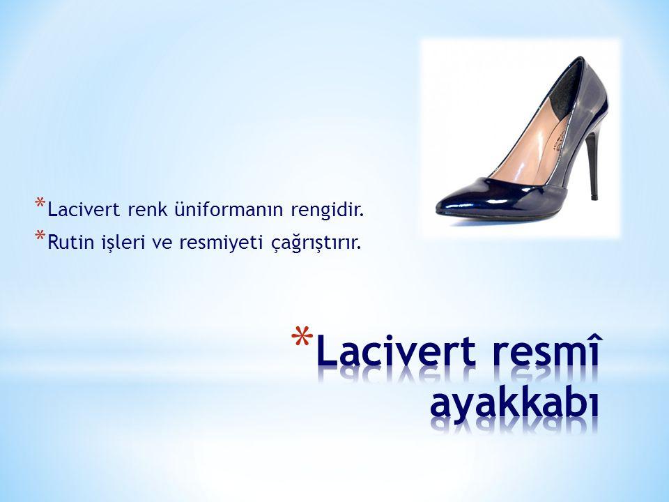 Lacivert resmî ayakkabı