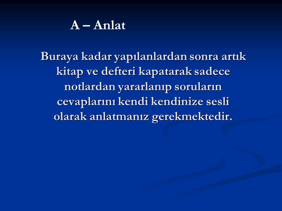 A – Anlat