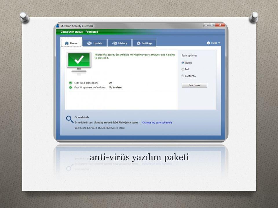 anti-virüs yazılım paketi