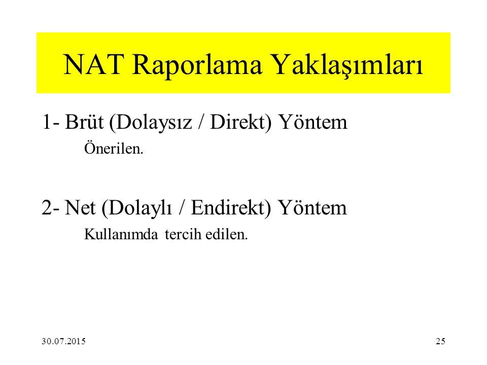 NAT Raporlama Yaklaşımları