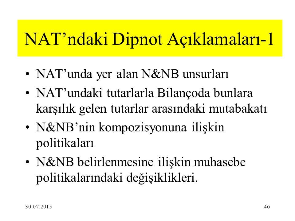 NAT'ndaki Dipnot Açıklamaları-1