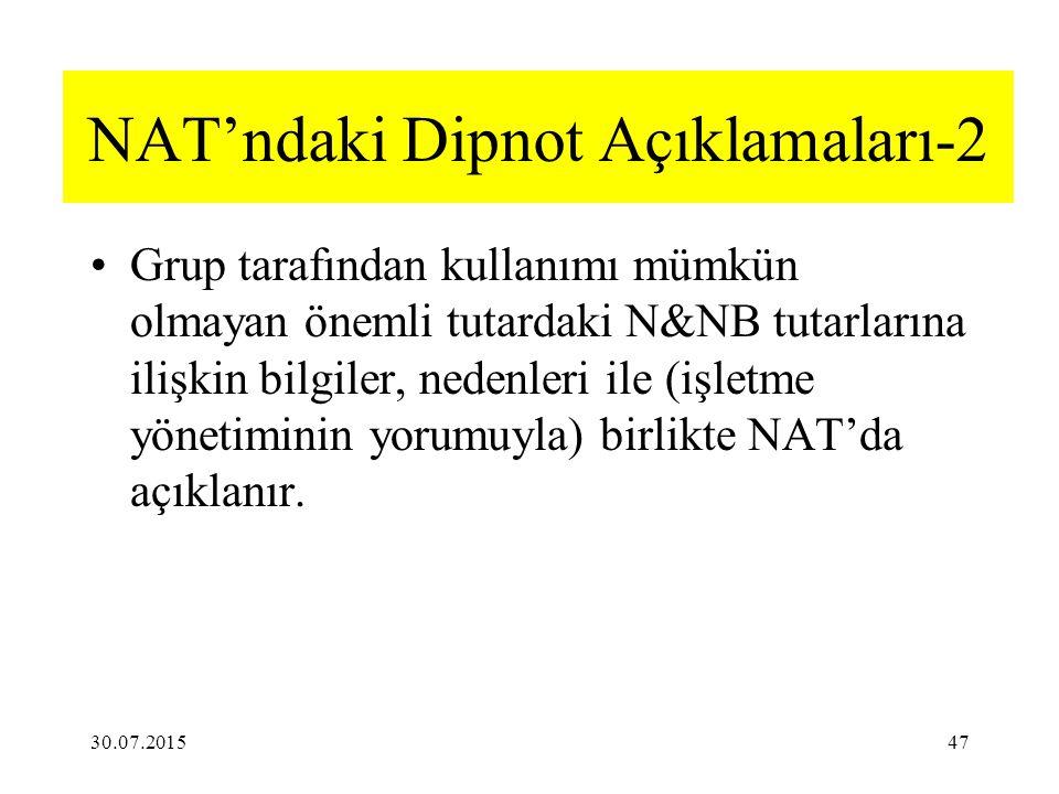 NAT'ndaki Dipnot Açıklamaları-2