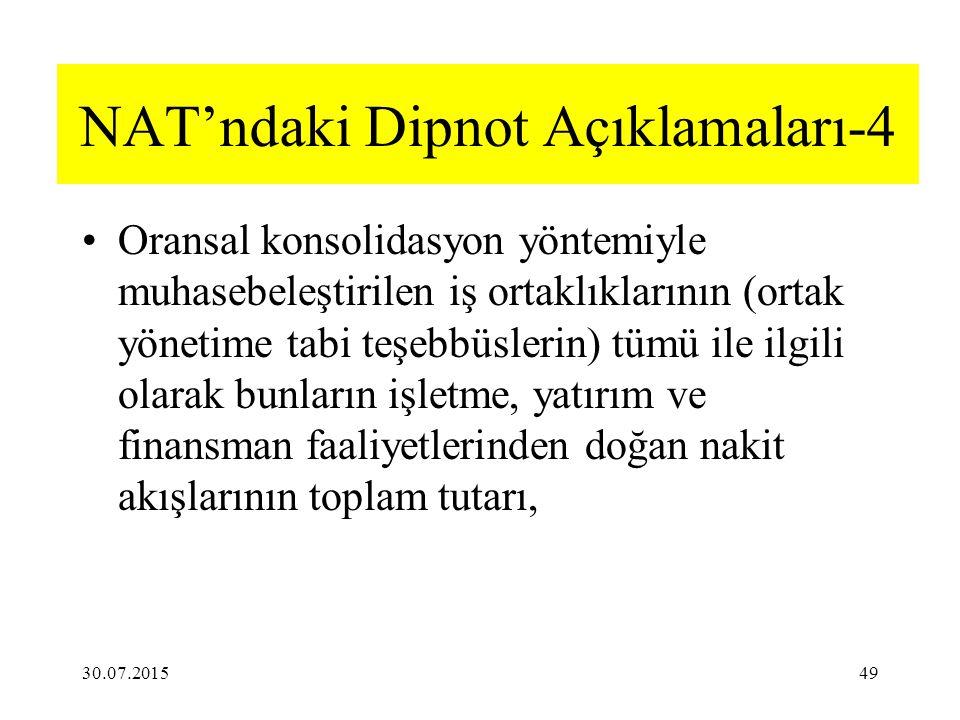 NAT'ndaki Dipnot Açıklamaları-4