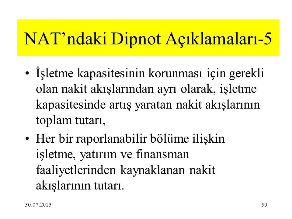 NAT'ndaki Dipnot Açıklamaları-5
