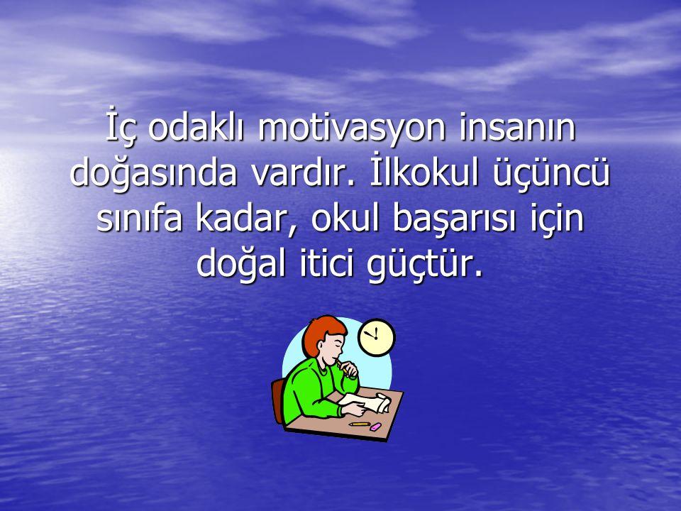 İç odaklı motivasyon insanın doğasında vardır