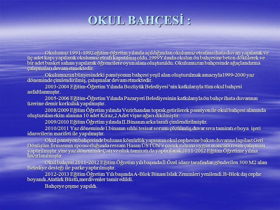 OKUL BAHÇESİ :