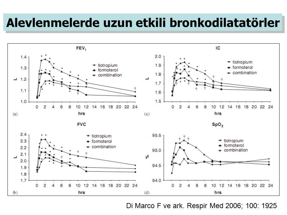 Alevlenmelerde uzun etkili bronkodilatatörler