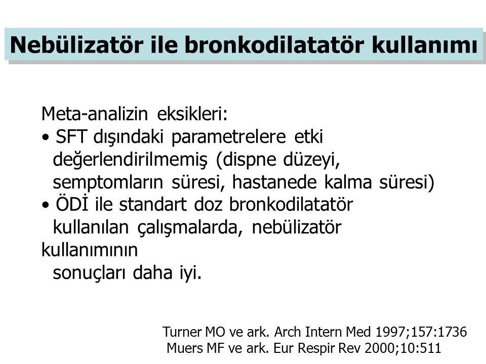 Nebülizatör ile bronkodilatatör kullanımı