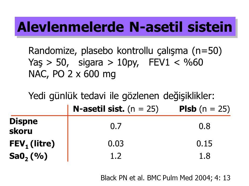 Alevlenmelerde N-asetil sistein