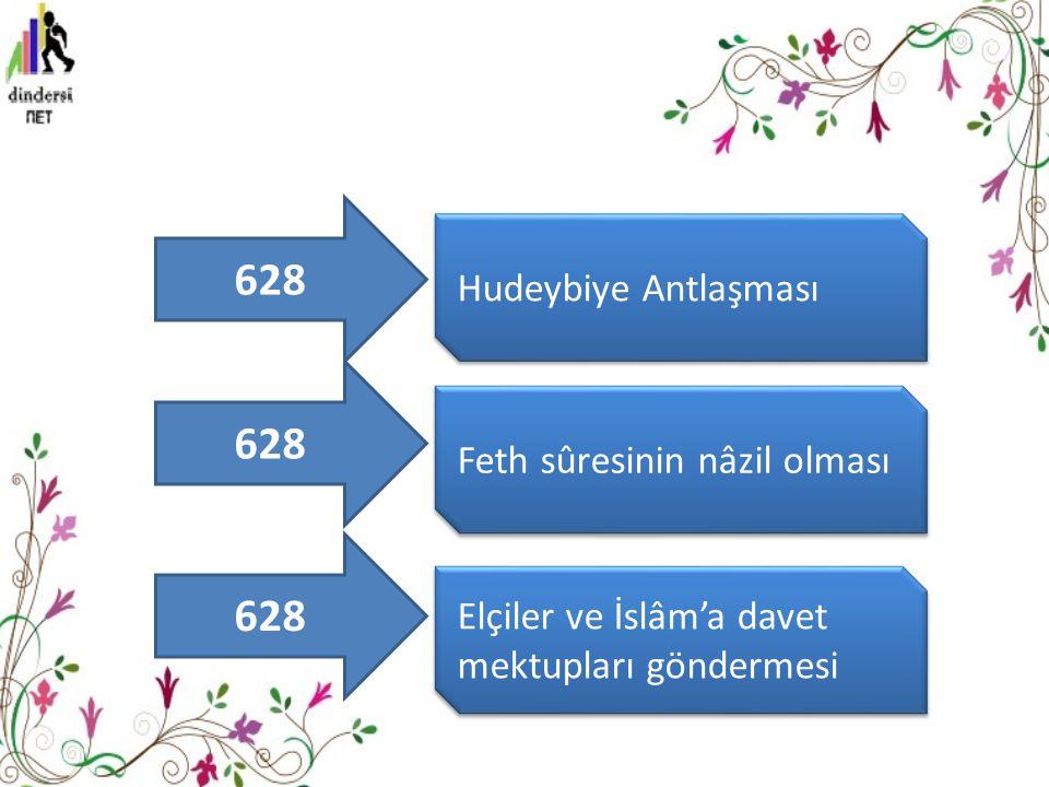 628 628 628 Hudeybiye Antlaşması Feth sûresinin nâzil olması