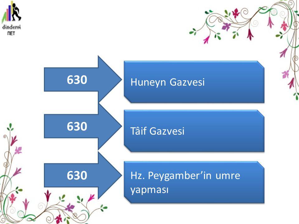 630 Huneyn Gazvesi 630 Tâif Gazvesi 630 Hz. Peygamber'in umre yapması