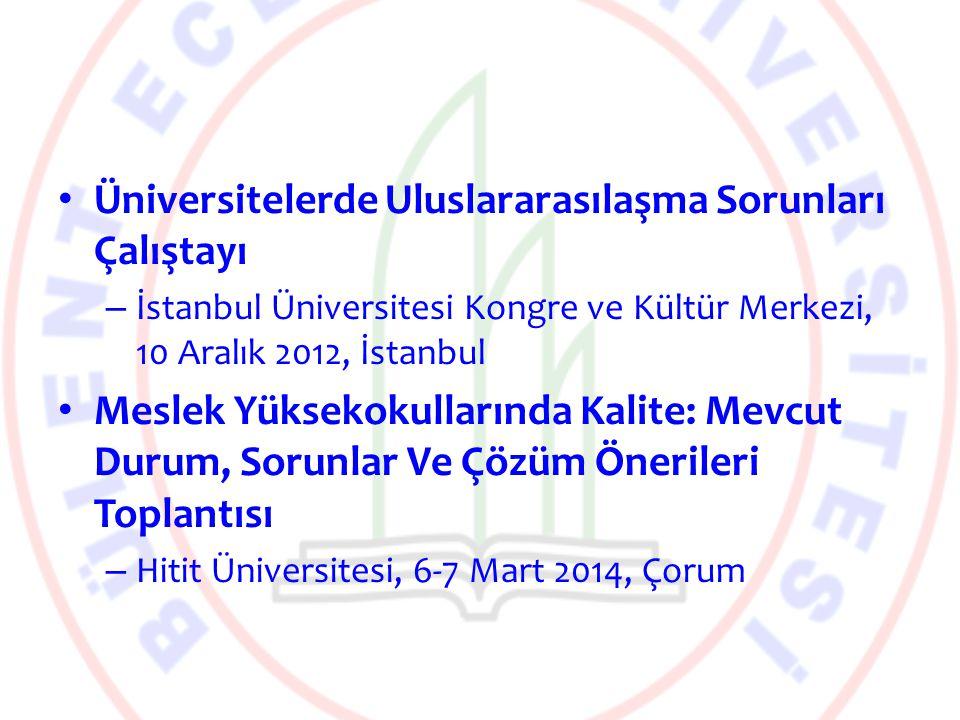 Üniversitelerde Uluslararasılaşma Sorunları Çalıştayı