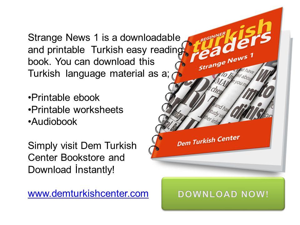 Turkish language material as a; Printable ebook Printable worksheets