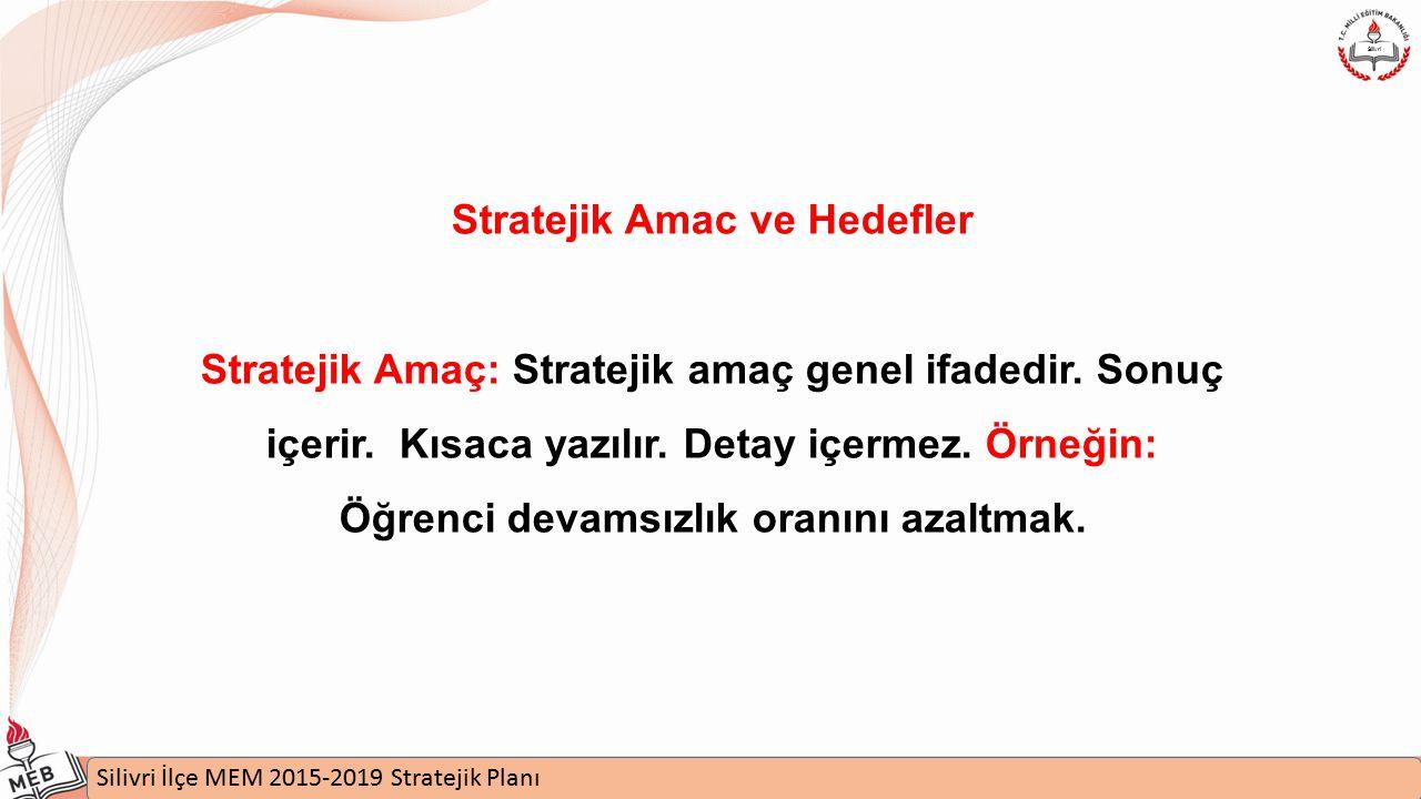 Stratejik Amac ve Hedefler