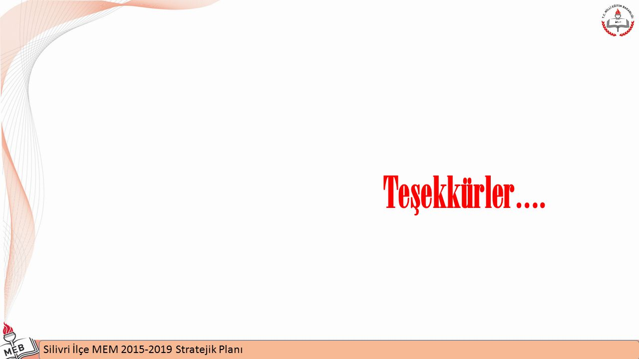 Silivri Teşekkürler…. Silivri İlçe MEM 2015-2019 Stratejik Planı