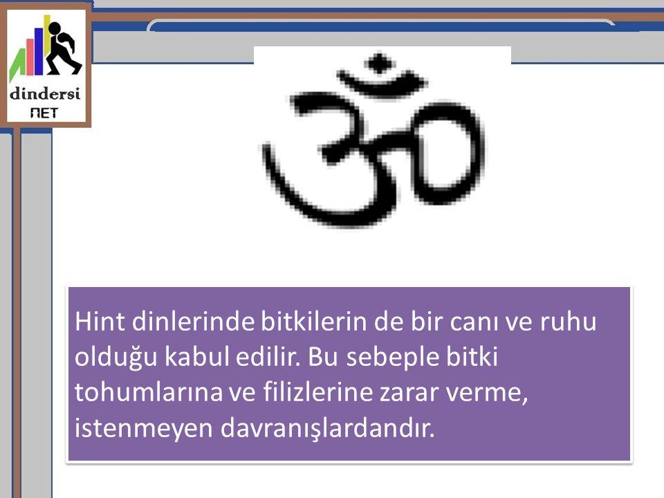 Hint dinlerinde bitkilerin de bir canı ve ruhu olduğu kabul edilir
