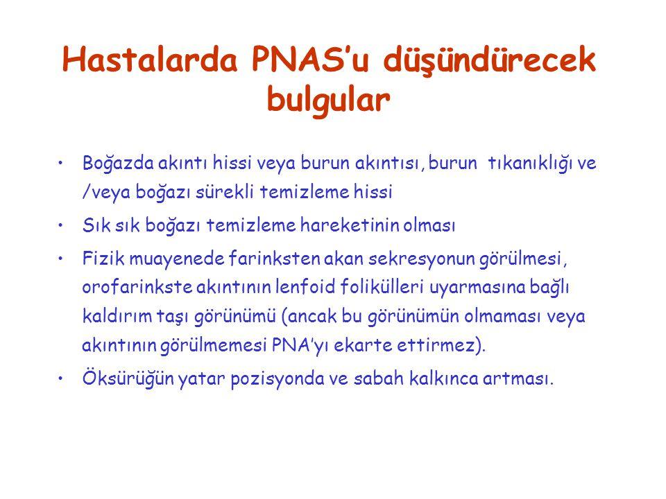 Hastalarda PNAS'u düşündürecek bulgular