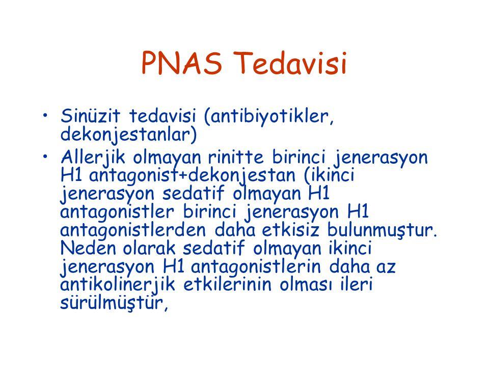 PNAS Tedavisi Sinüzit tedavisi (antibiyotikler, dekonjestanlar)