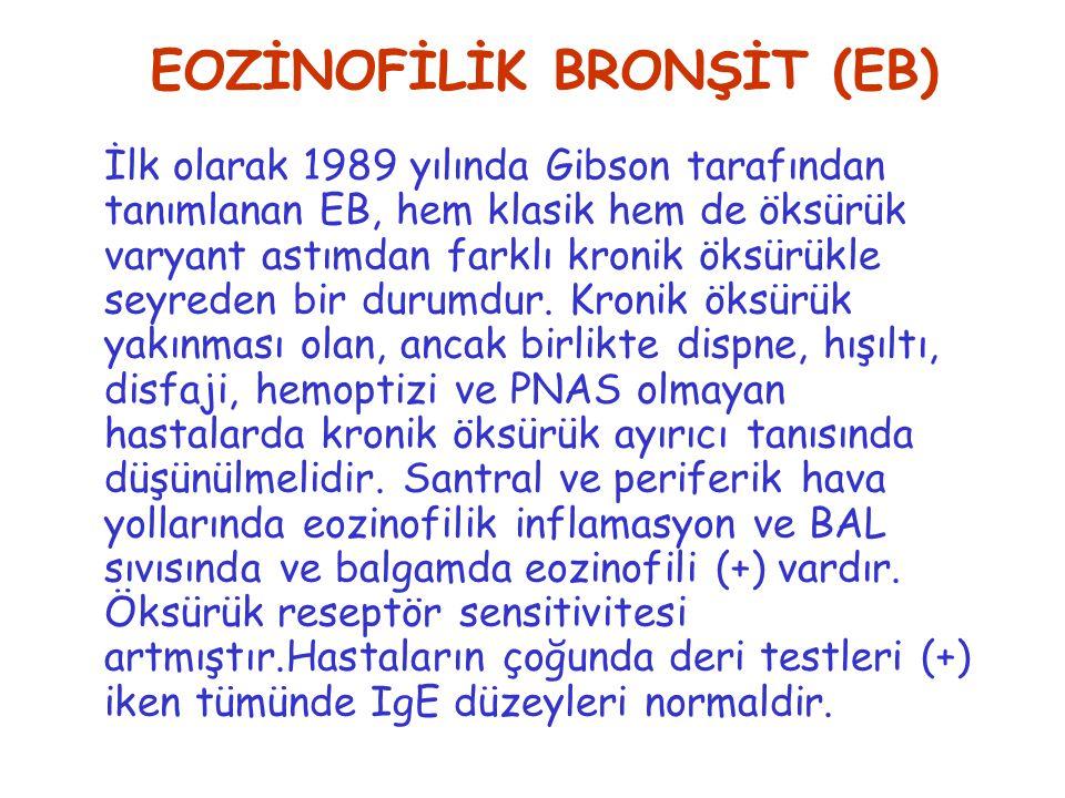 EOZİNOFİLİK BRONŞİT (EB)