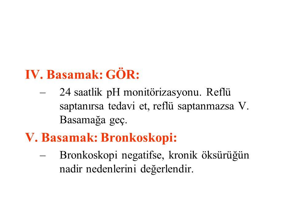 V. Basamak: Bronkoskopi: