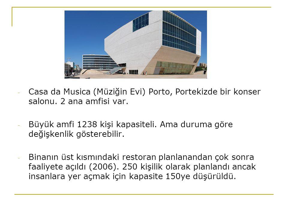Casa da Musica (Müziğin Evi) Porto, Portekizde bir konser salonu
