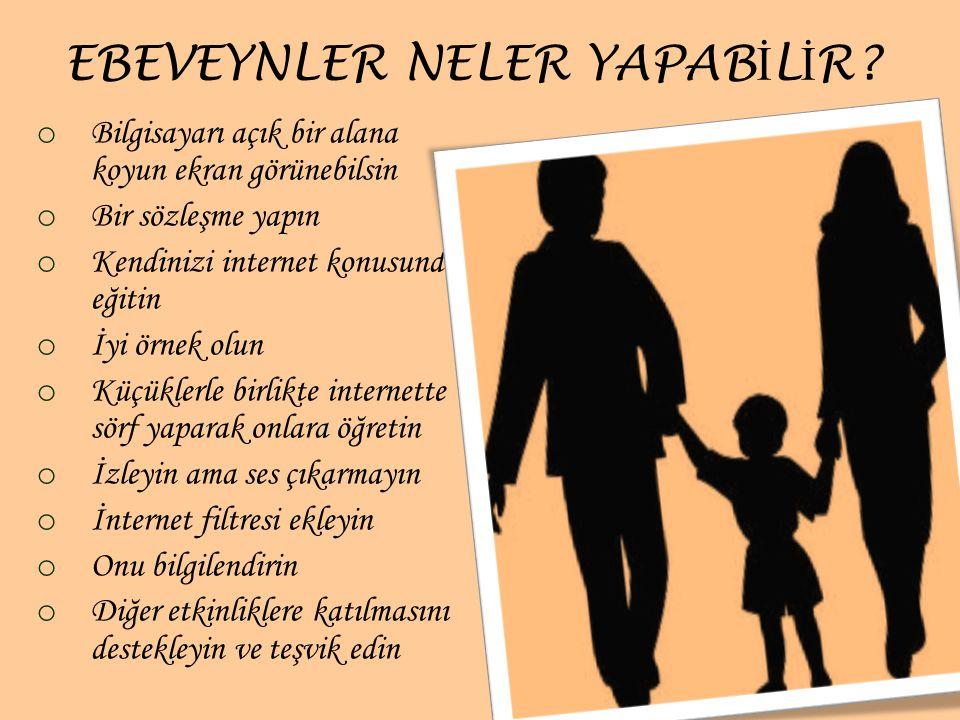 EBEVEYNLER NELER YAPABİLİR