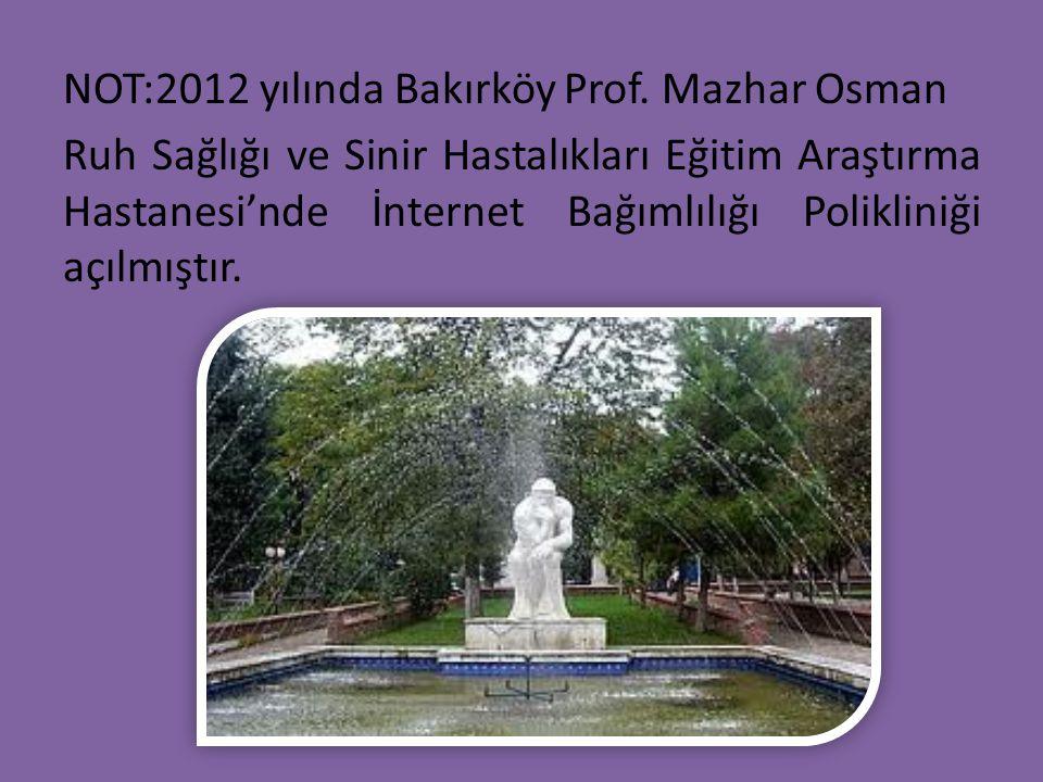 NOT:2012 yılında Bakırköy Prof