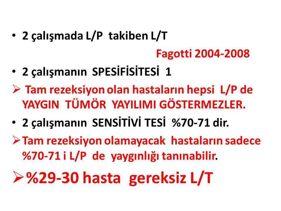 %29-30 hasta gereksiz L/T 2 çalışmada L/P takiben L/T
