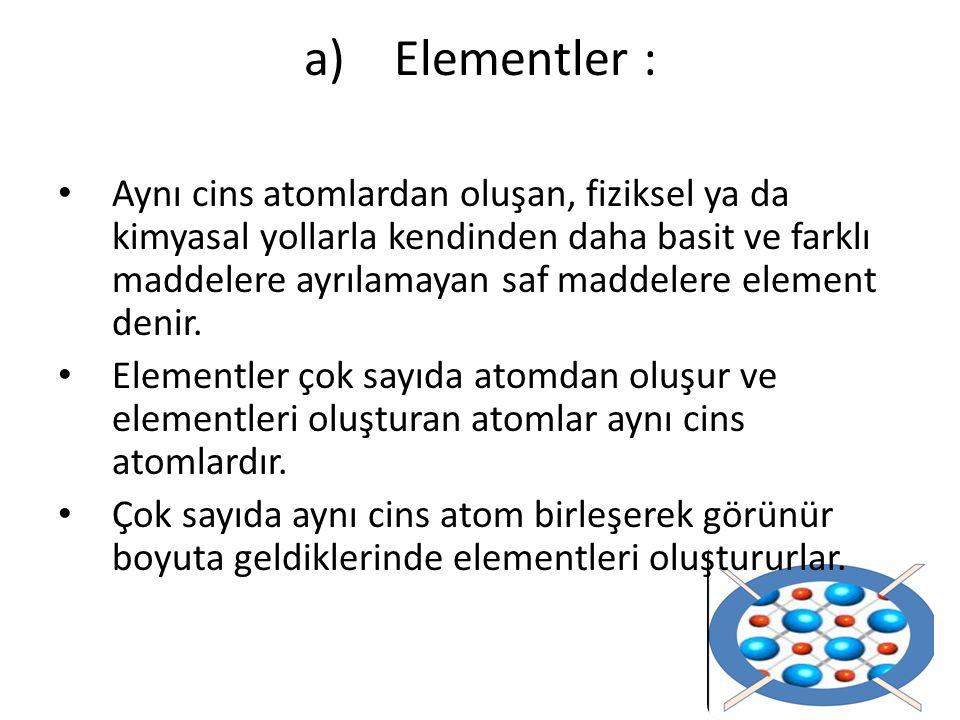 Elementler :