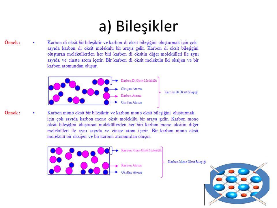 a) Bileşikler