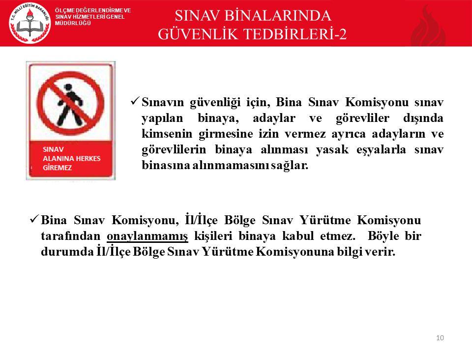 SINAV BİNALARINDA GÜVENLİK TEDBİRLERİ-2