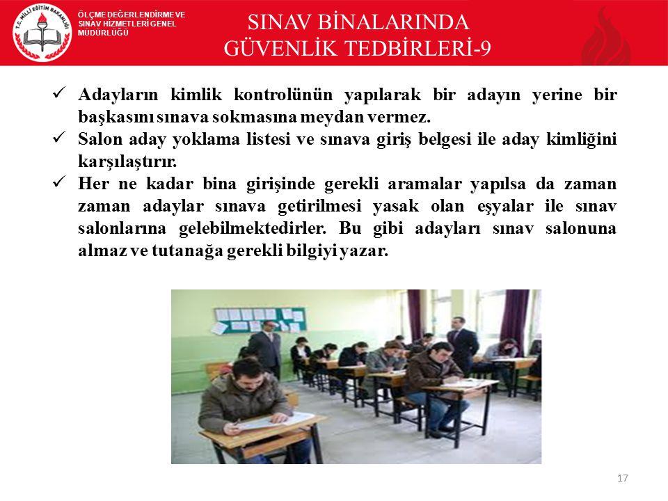 SINAV BİNALARINDA GÜVENLİK TEDBİRLERİ-9