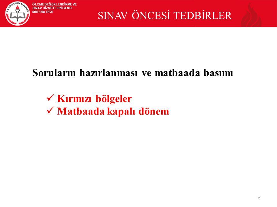 SINAV ÖNCESİ TEDBİRLER