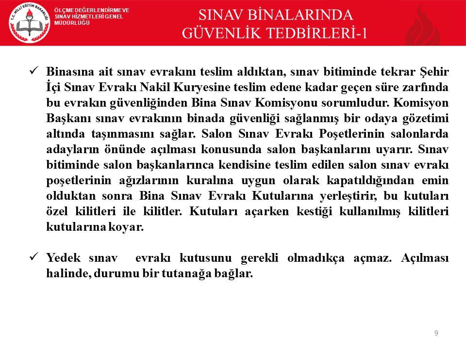 SINAV BİNALARINDA GÜVENLİK TEDBİRLERİ-1