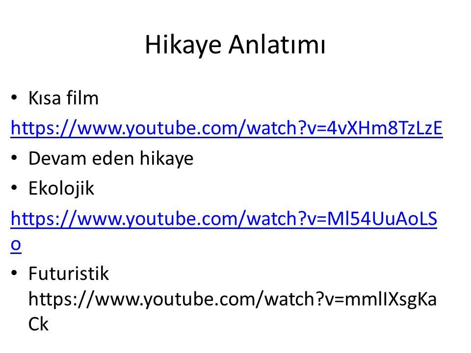 Hikaye Anlatımı Kısa film https://www.youtube.com/watch v=4vXHm8TzLzE