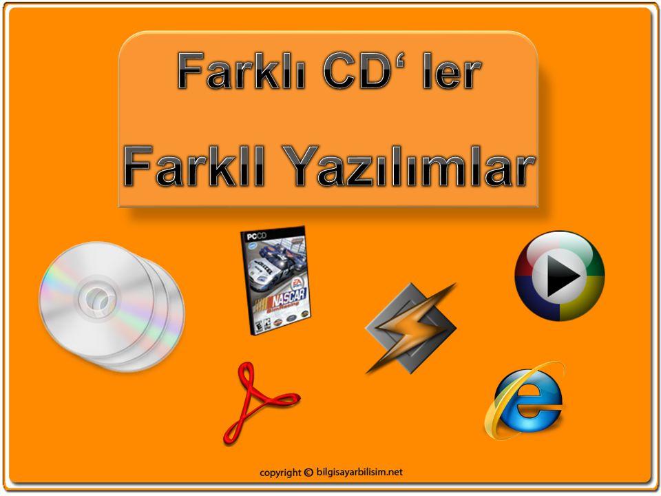 Farklı CD' ler FarklI Yazılımlar