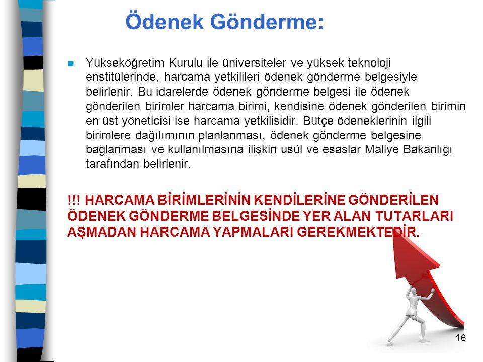 Ödenek Gönderme: