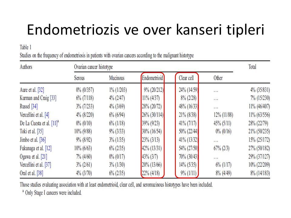 Endometriozis ve over kanseri tipleri