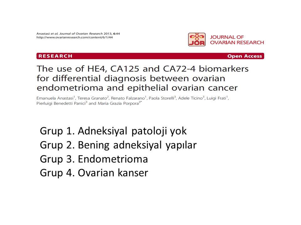 Grup 1. Adneksiyal patoloji yok