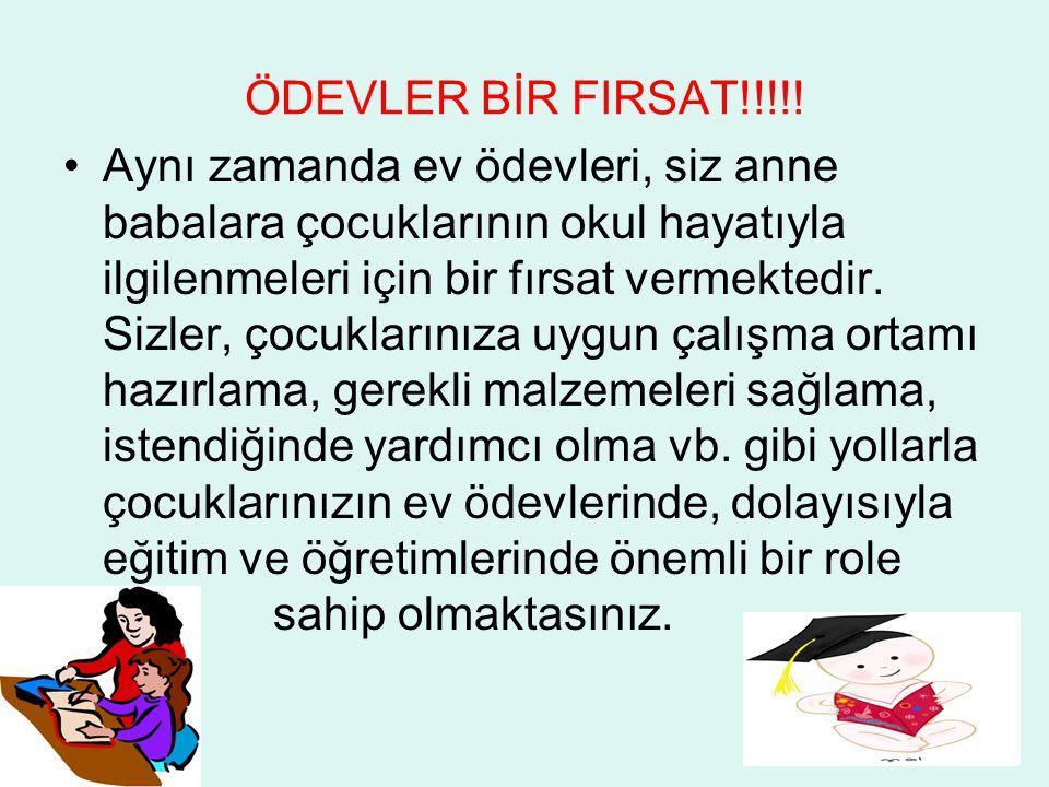 ÖDEVLER BİR FIRSAT!!!!!