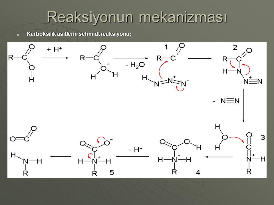 Reaksiyonun mekanizması