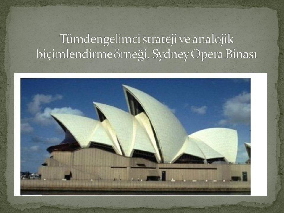 Tümdengelimci strateji ve analojik biçimlendirme örneği, Sydney Opera Binası