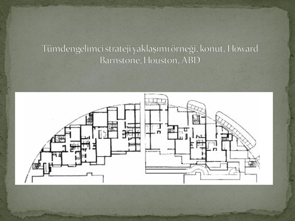 Tümdengelimci strateji yaklaşımı örneği, konut, Howard Barnstone, Houston, ABD