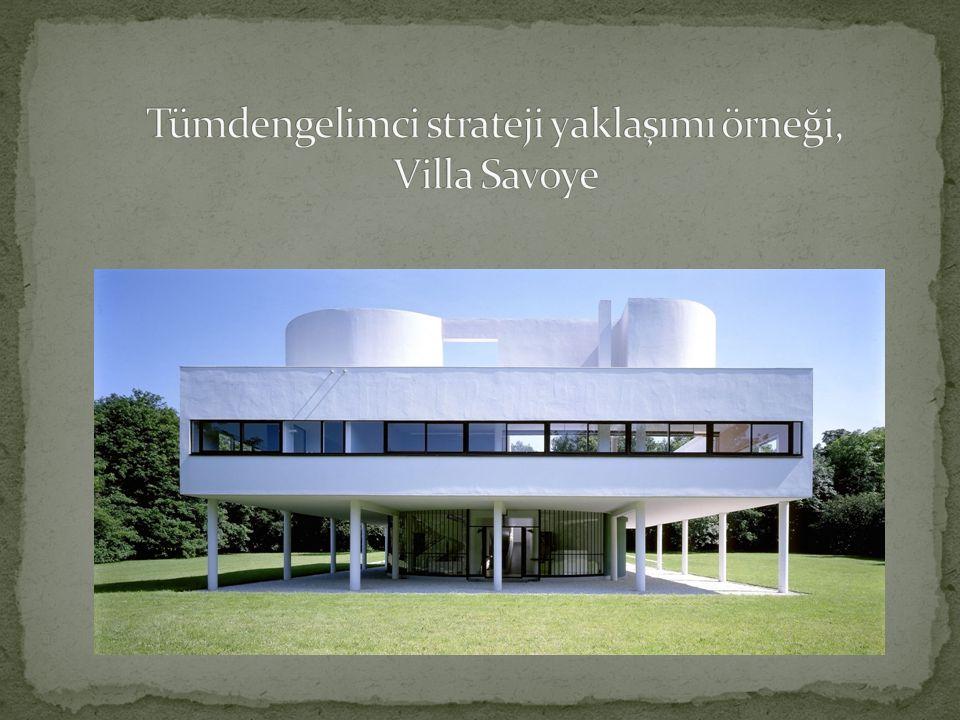 Tümdengelimci strateji yaklaşımı örneği, Villa Savoye
