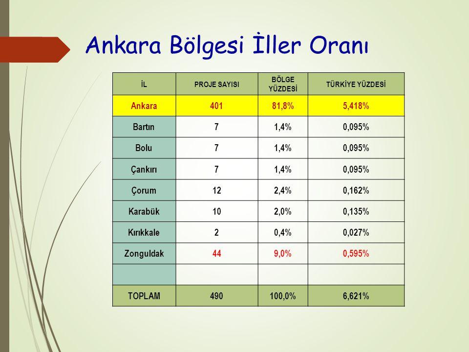 Ankara Bölgesi İller Oranı